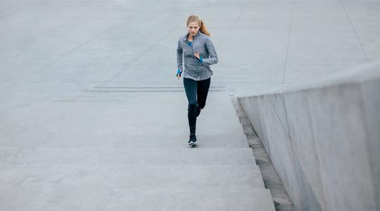 Beautiful young woman on morning run