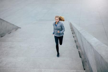 Healthy woman on morning run