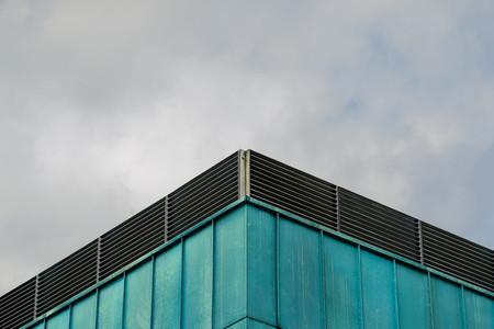 Green metal facade