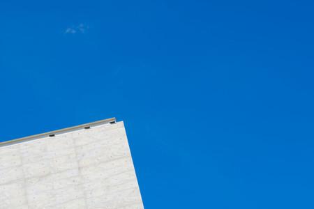 Gray facade like a pyramid