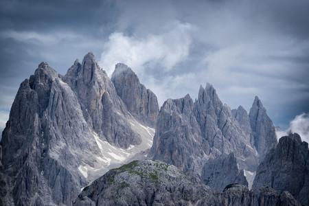 Threatening rocky mountain