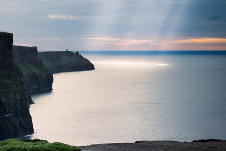 Beautiful sunset over cliffs