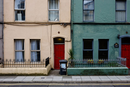 Coloured houses in Ireland