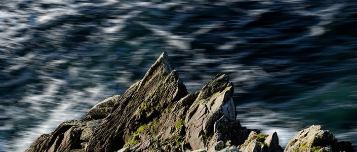 Rough sea over the rock