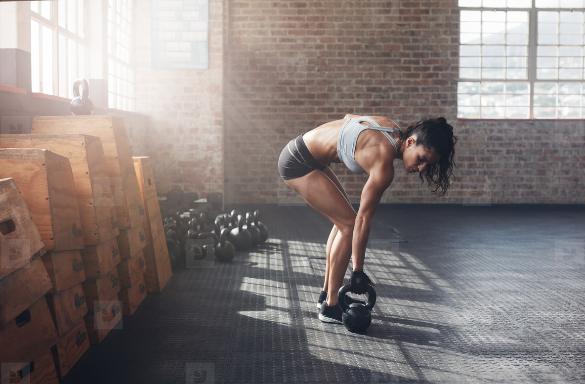 Woman about to start her fitness regime