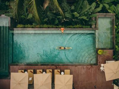 Couple enjoying holiday at luxury resort