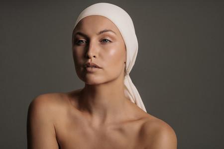 Beautiful young woman with natural makeup