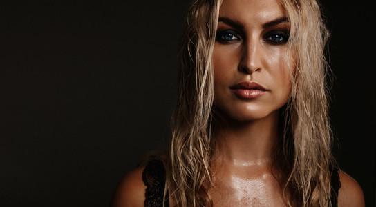 Beauty portrait of beautiful young woman