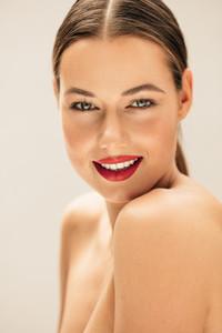 Beautiful young woman with fresh skin