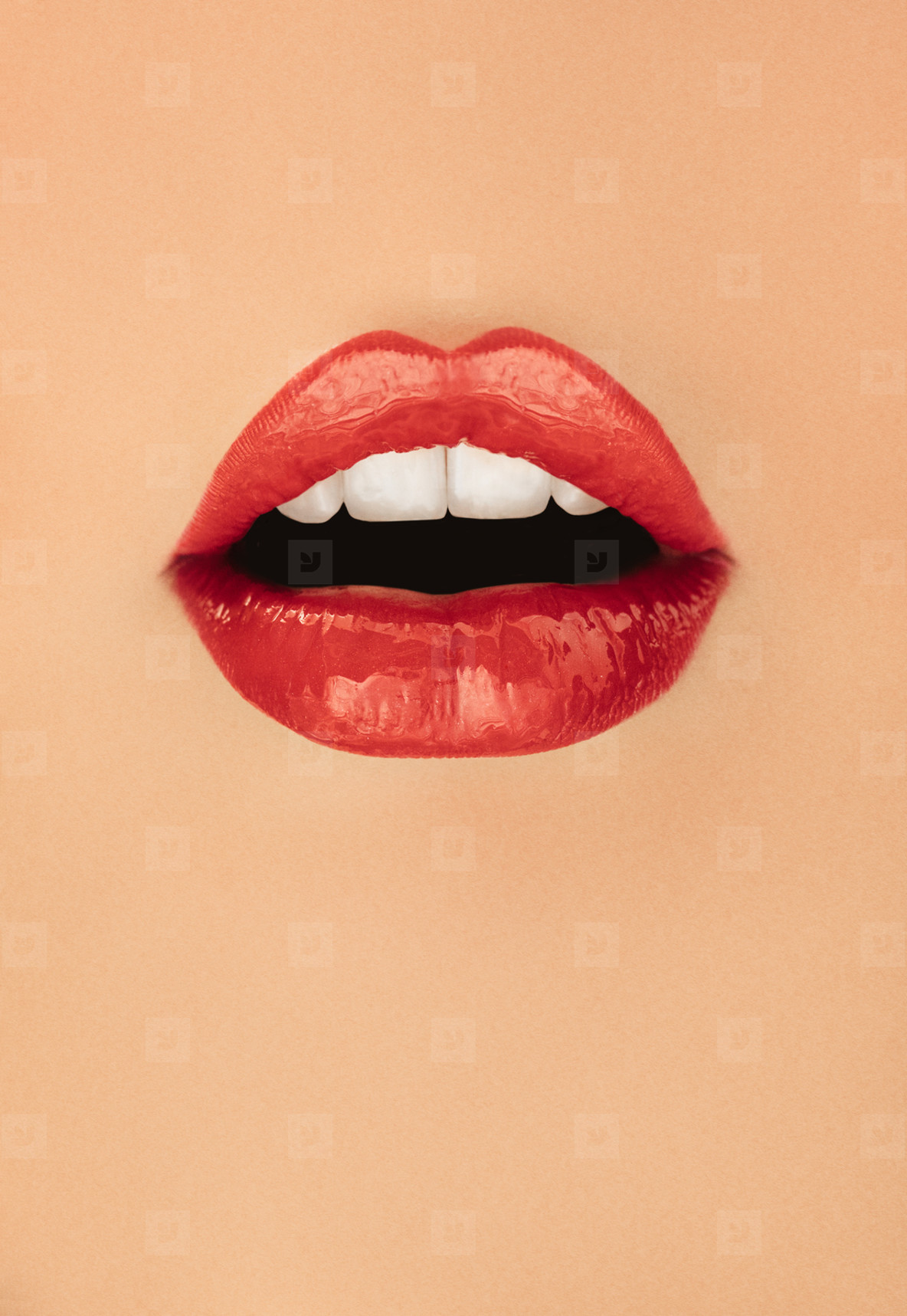 Poster of woman with red lipstick