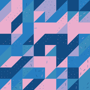 Geometric repeating pattern tile