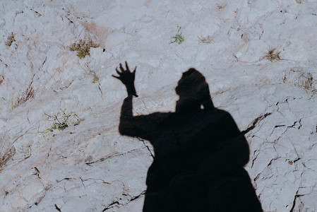 Shadow at Vasquez Rocks