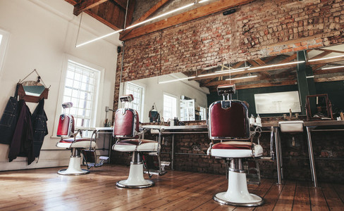 Retro styled barbershop
