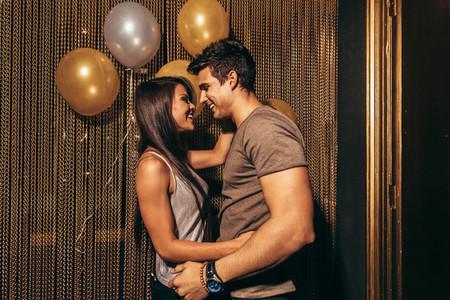 Romantic couple in the night club