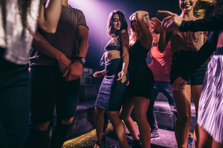 People enjoying amazing party at nightclub