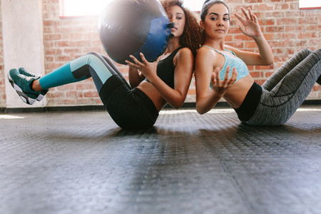Girls working out to shape their body