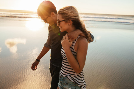 Loving young couple on beach
