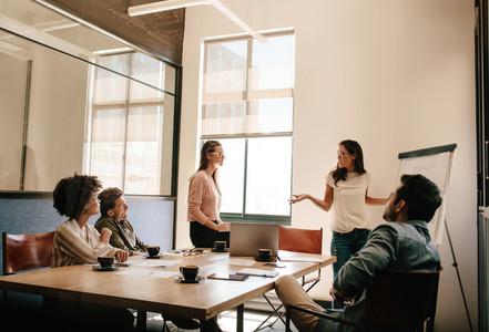 Creative business team having a meeting