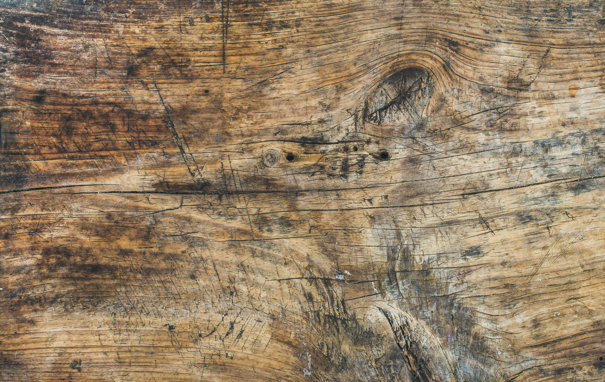 Old rough rustic French wooden chopping board texture