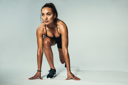 Fitness woman ready for competition