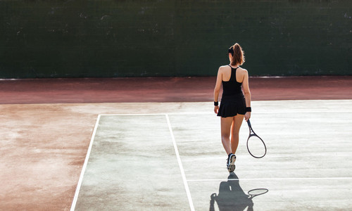 Female tennis player on the court