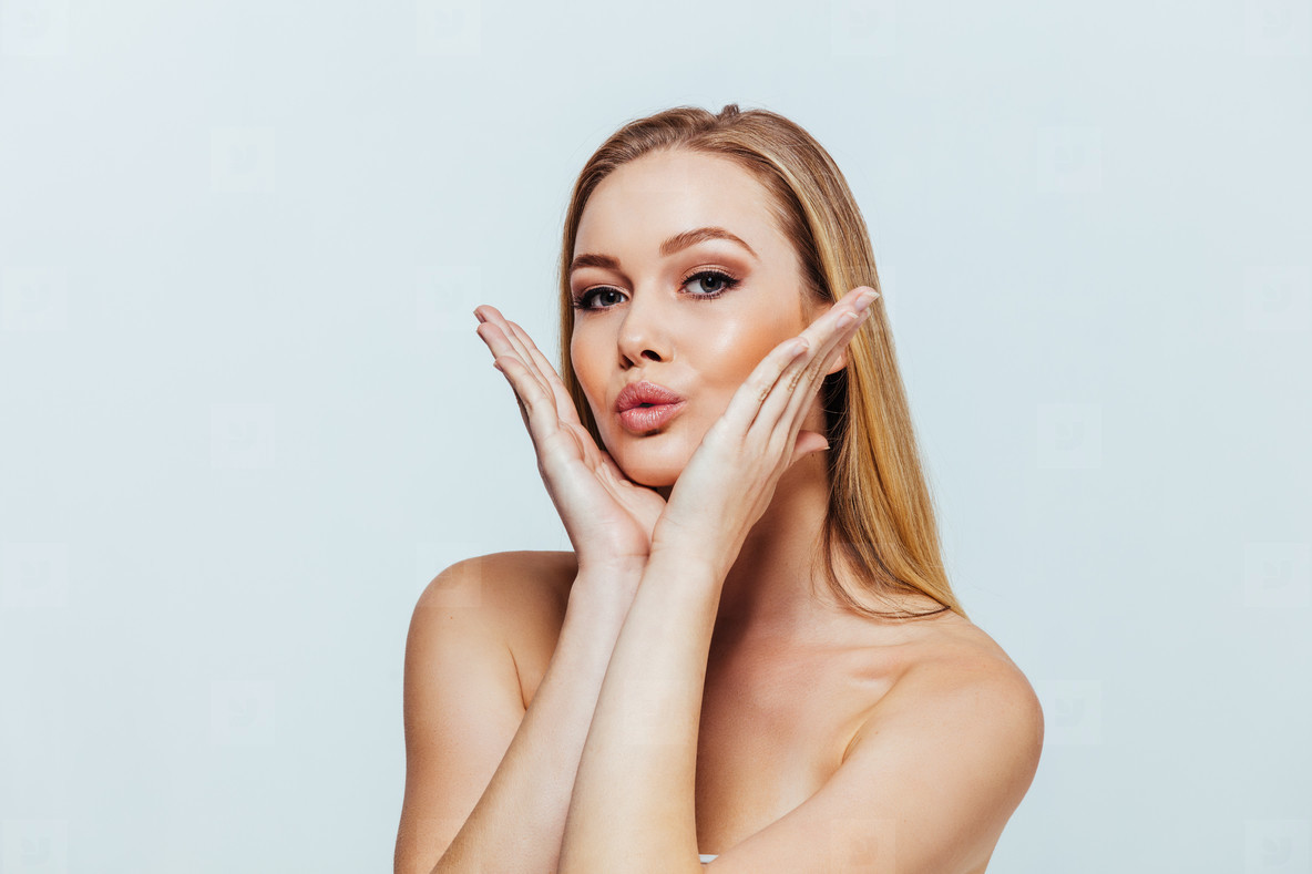 Face of young woman with beautiful skin