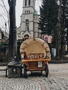 A street vendor selling  Poland