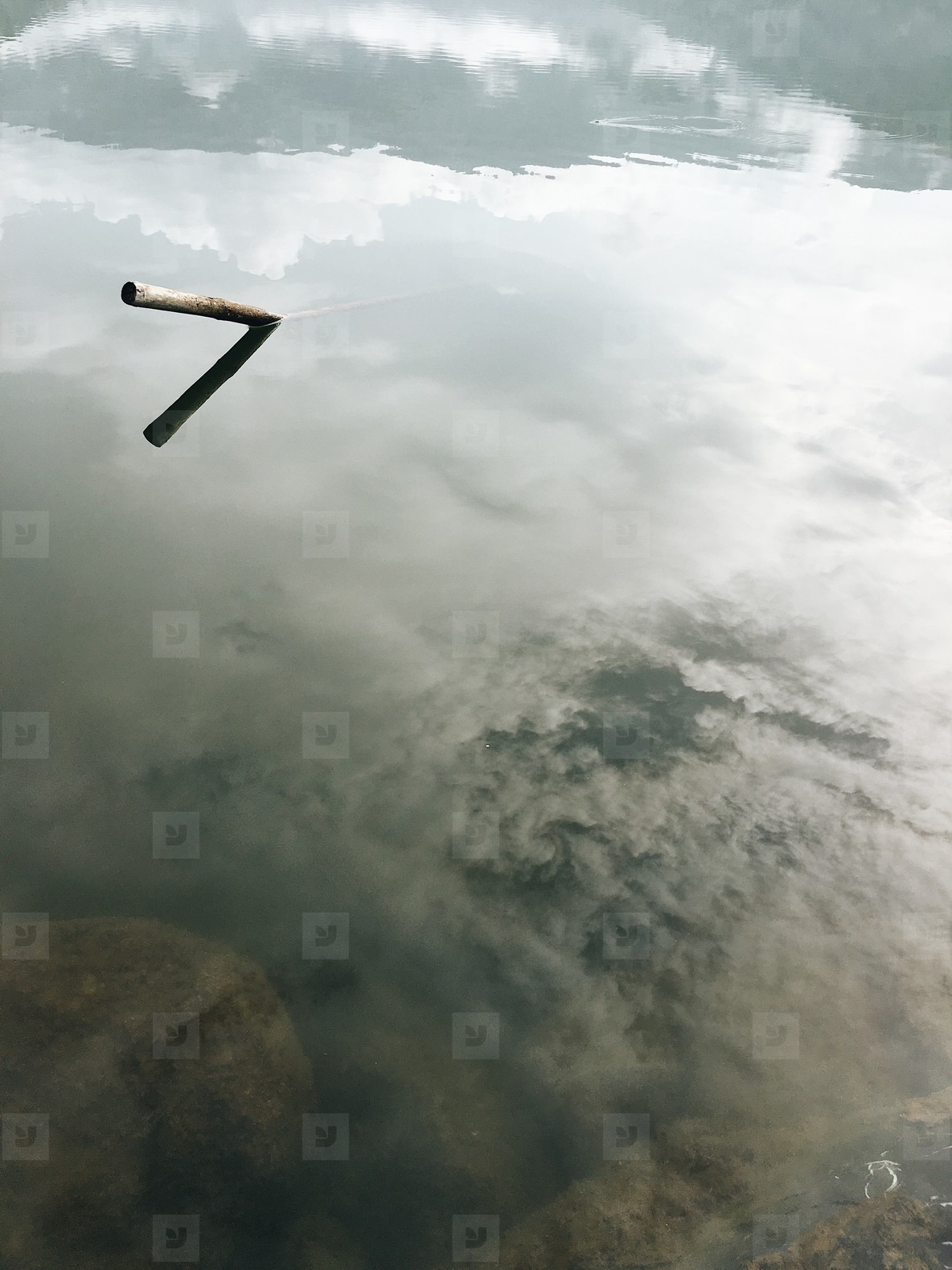 Reflections of clouds in water
