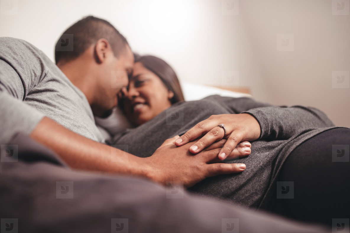 Photos - Romantic Pregnant Couple Waiting For A Child -6078