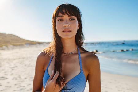 Attractive young woman on the beach