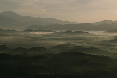 Morning mist mountain 01