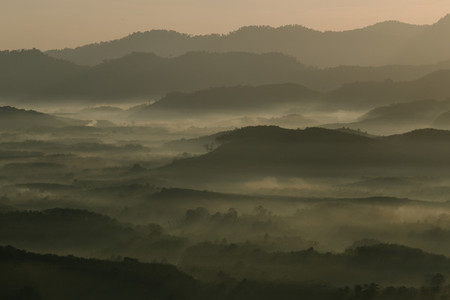 Morning mist mountain 03