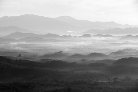 Morning mist mountain