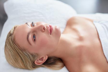 Beautiful caucasian female in spa