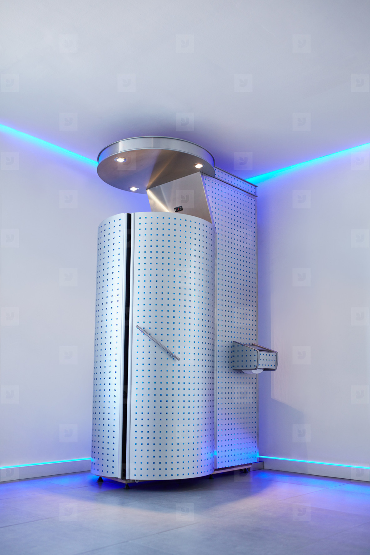 Cryotherapy capsule in cosmetology clinic
