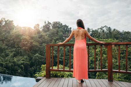Woman looking at beautiful view