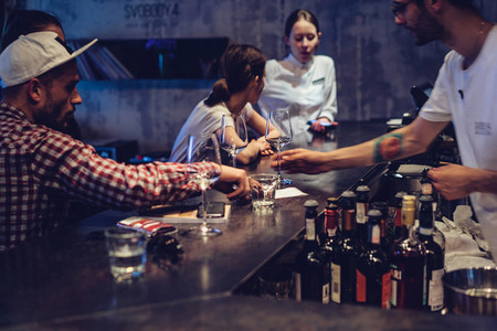 wine in bar
