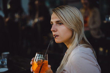 girl drink coctail