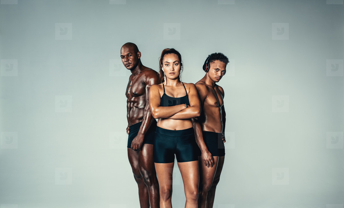 Muscular group of people