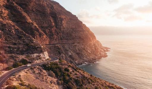 Scenic roadtrip in amazing landscape