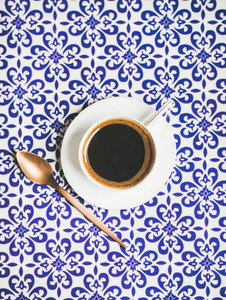 Cup of black Turkish or Eastern style coffee