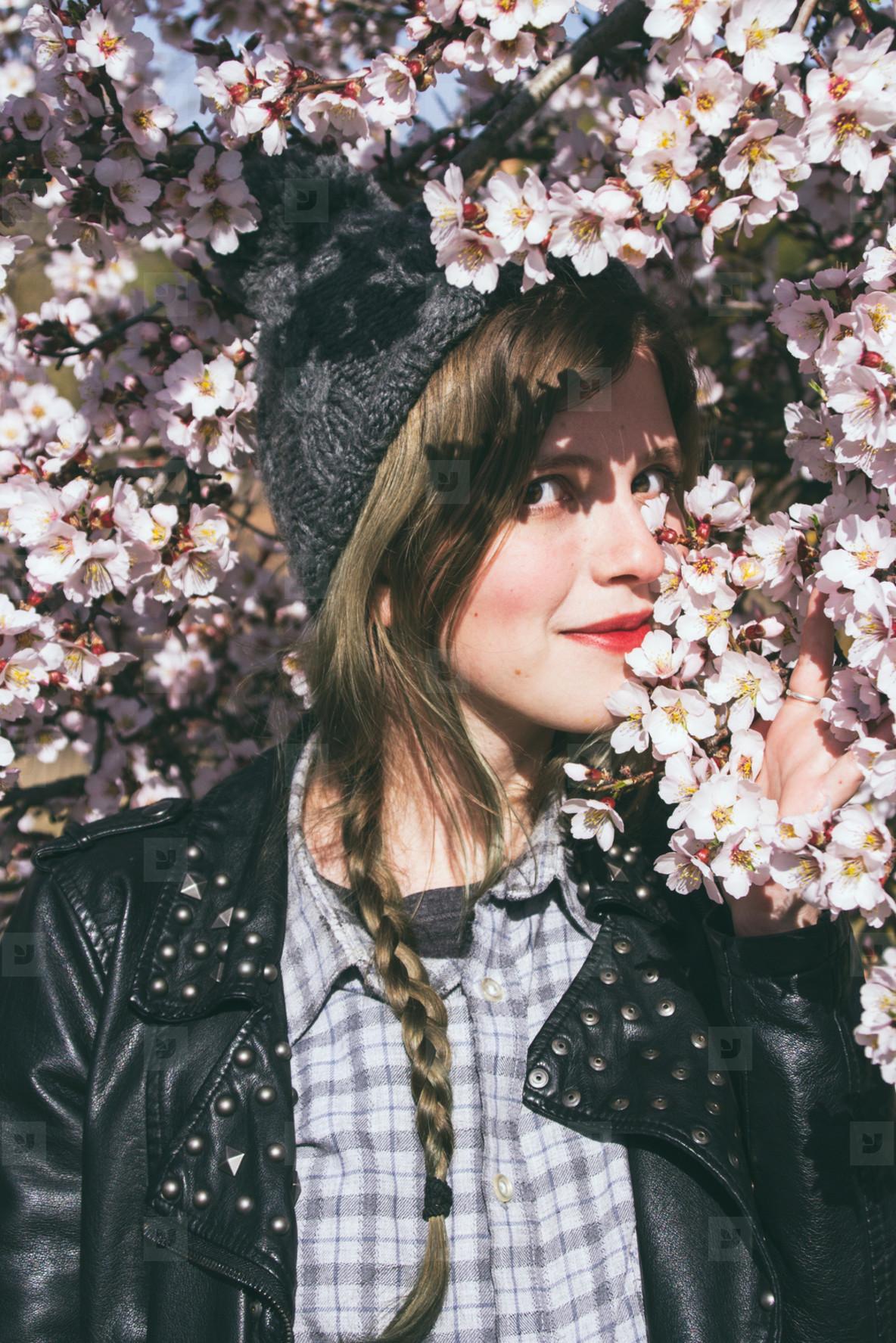 Young woman enjoying spring