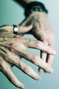 Young man hands