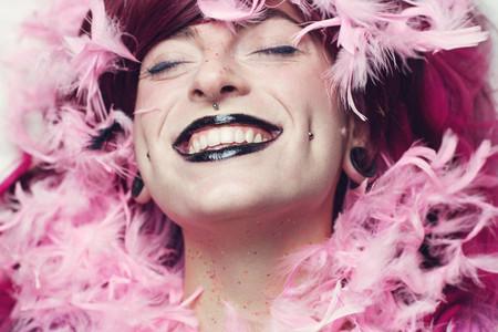 Beauty of a happy woman