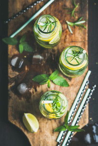 Citrus and herbs infused sassi water for detox  healthy eating