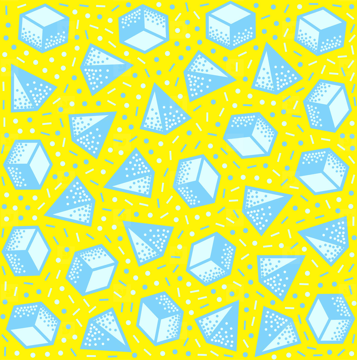 Repeating geometric vector pattern