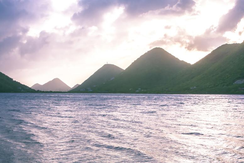 Virgin Island Mountains Sunset