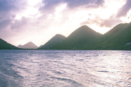 Virgin Island Mountains Sunset