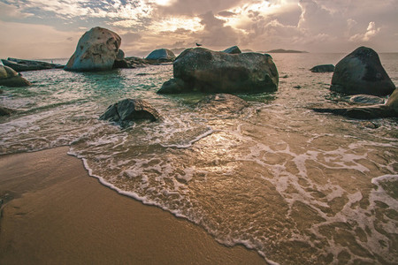 Virgin Gorda beach sunset