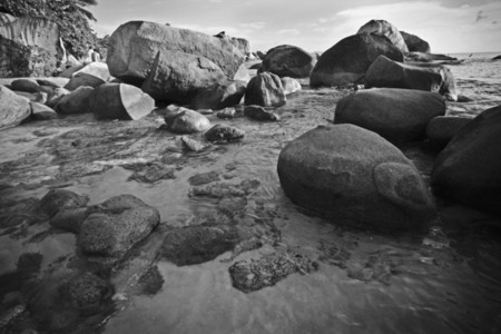 Beach boulders on Virgin Gorda